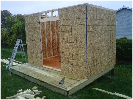according to your plan when you build your own shed