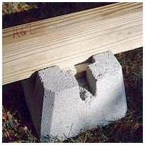 deckblock shed foundation