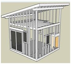 How to build shed on slope for How to build a sloped roof shed