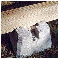 deckblock shed foundation