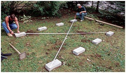 Shed foundation construction methods for How much to build a floating deck